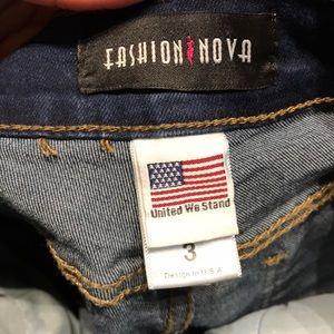 Fashion Nova Jeans - Fashion Nova Moto Distressed Jeans 3/S
